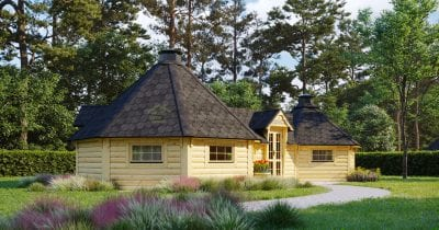 Double BBQ Hut 16.5m2 + 9.2m2 - Concord