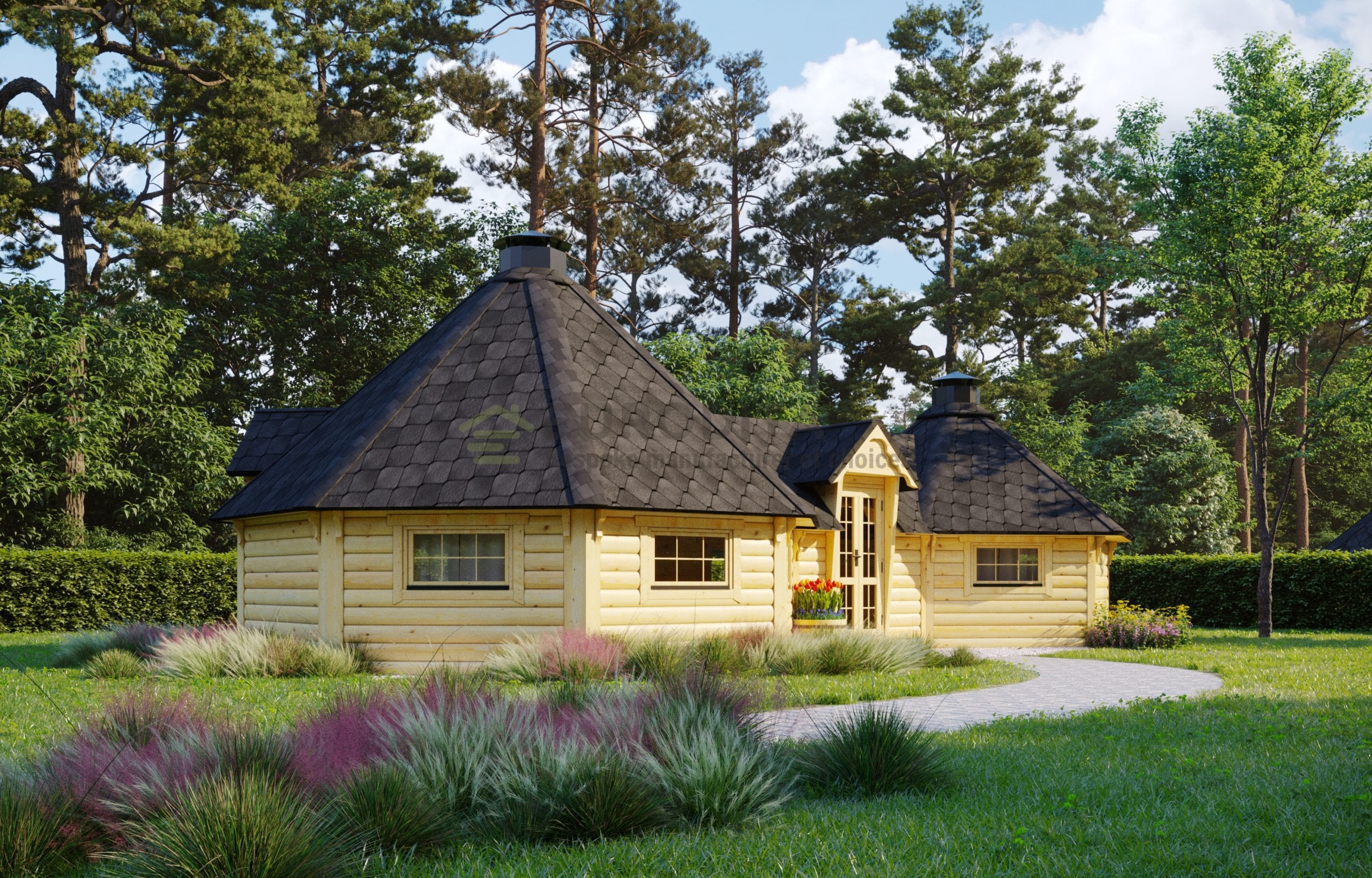 Twin BBQ Hut 16.5m2+9.2m2