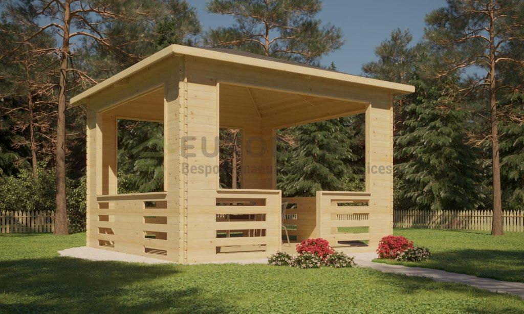 Wooden Pavilion 3.5×3.5m – Repose