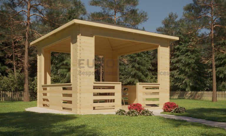 Wooden Pavilion 3.5×3.5m - Repose