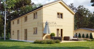 Two Storey Glulam Log House David