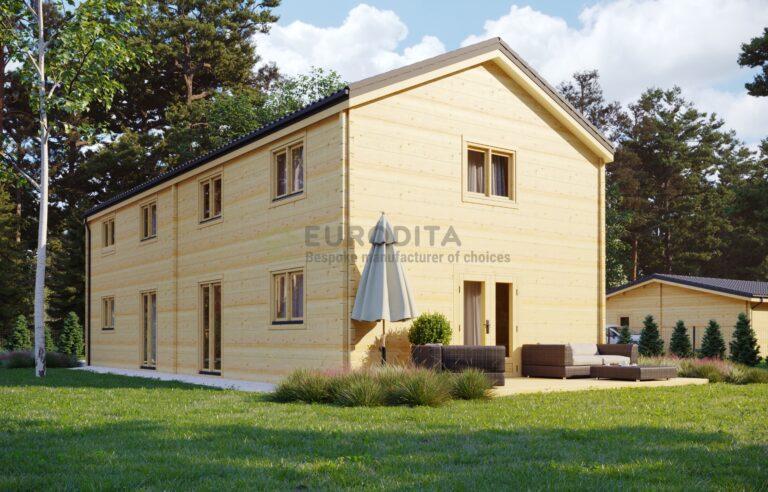 Casa de madera laminada de dos plantas David