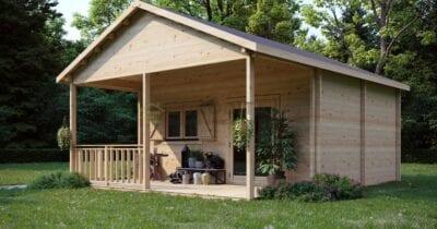 Cabaña de madera laminada a medida Serenade