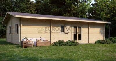 Cabaña de madera laminada a medida en el interior del país