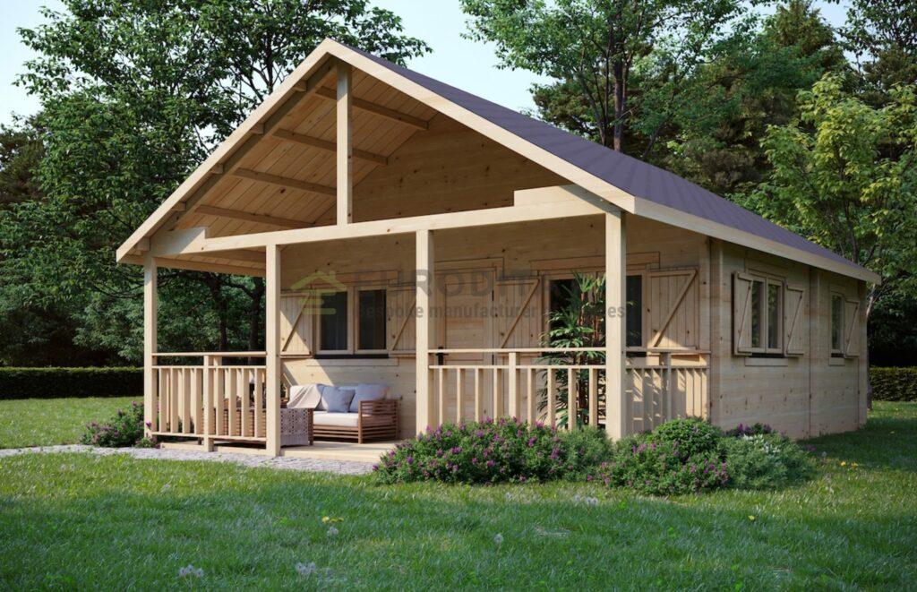 """Pagal užsakymą pagamintas rąstinis namelis """"Glulam Log Cabin Discovery"""