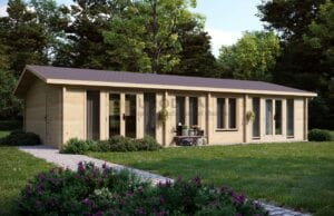 Log cabin Forester can easily be assigned to modular cabins