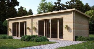 Cabaña de madera laminada a medida Australis