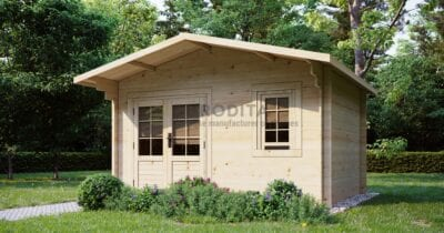 """Log Cabin Enfield"" 3,8x3 m, 28 mm"