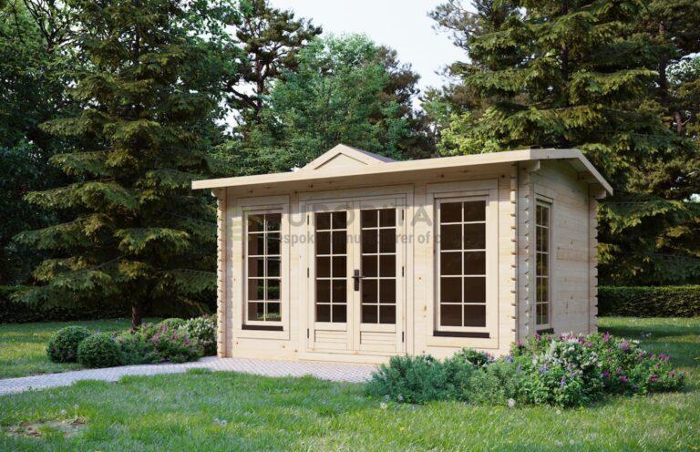 Clock house Log cabin 4x3m, 44mm