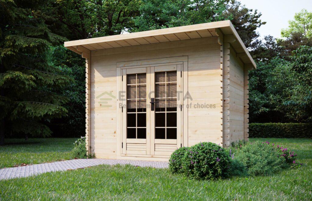 Cabaña de madera Kaymer 3x2m, 28mm