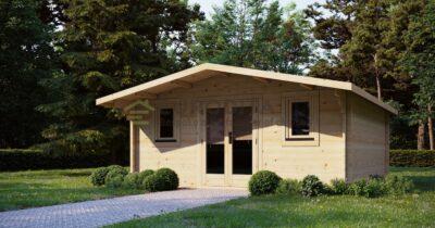 Cabaña de troncos Axminster 5x5m, 44mm