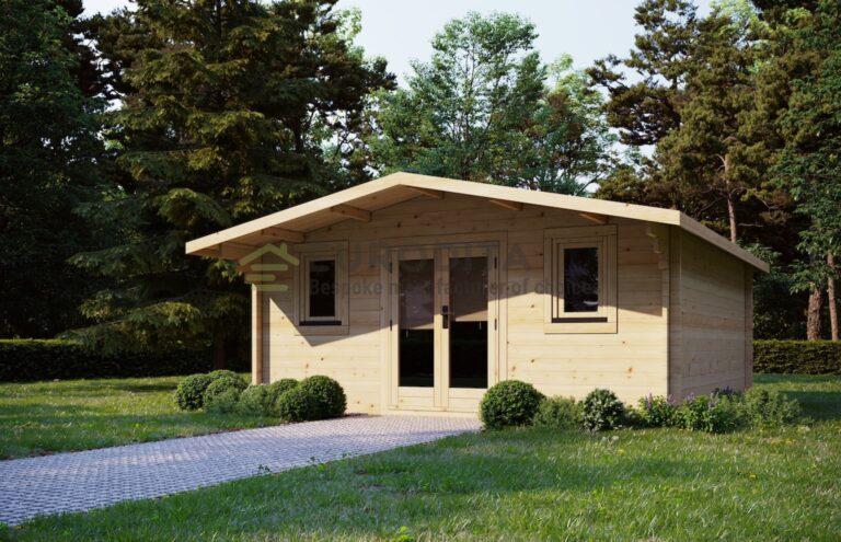 Log Cabin Axminster 5x5m, 44mm