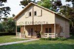 Eurodita Chalet en rondins à deux étages Roan