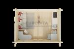 Eurodita log cabin Bristol plan