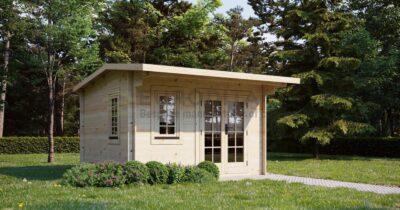 Eurodita cabaña de madera Folkestone 3,5×3,5m, 28mm
