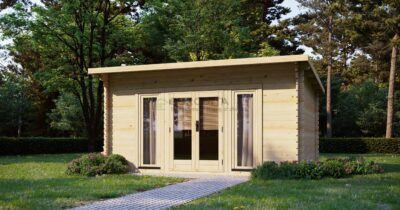 Eurodita cabaña de madera Plymouth 4,7×3,5m,44mm